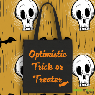 Optimisitic Trick or Treater Tote Bag
